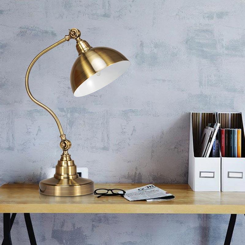 Modern Table Lamp Classic Bedroom Study Adjustable Direction Desk Lamp Copper Color Home Lighting BLT515 modern 3 color adjustable triangle