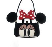 Augur Niños nueva lindo Mickey Minnie arco del bolso de hombro bolso del teléfono móvil pequeño monedero mini bolsa de Mensajero