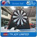 16.5ftH inflable gigante tablero de dardos, dardos de fútbol soccer, fútbol inflable juego de dardos