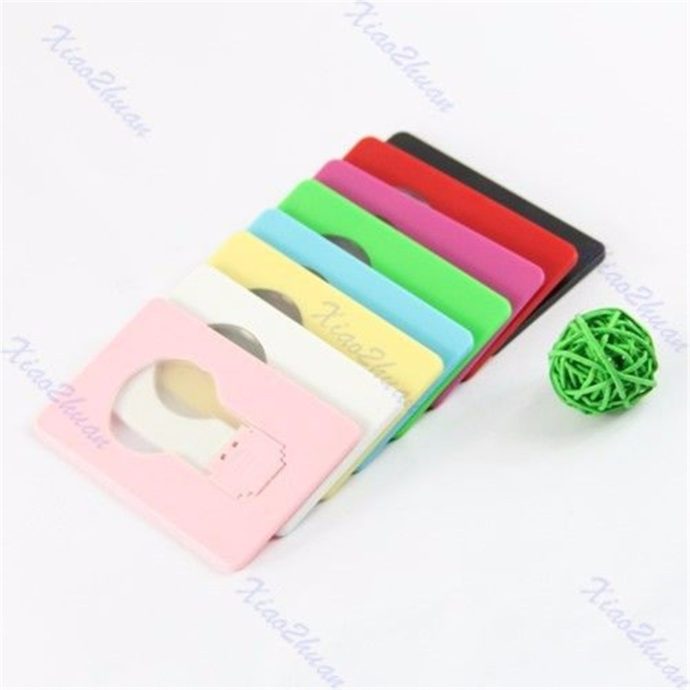 1 PC  Portable Pocket LED Card Light Lamp Put In Purse Wallet