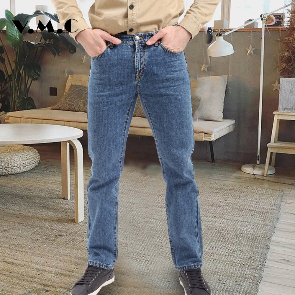 Men's Jeans New 2017 Autumn And Winter Fashion Casual Heavyweigh Cotton Male Denim Pants Hot Sale Men's Mid Waist Denim Trousers autumn and winter boys pants 2015 new winter fashion star patch with good taste three oxford cashmere waist jeans code
