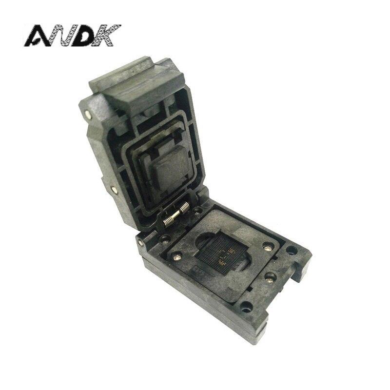 BGA68 Clamshell burn in socket pitch 0.8mm IC size 8*12mm BGA68(8*12)-0.8-CP01NT BGA68 VFBGA68 burn in programmer socket acticoat burn dressing acticoat burn drs 4x4 in 1 case 48 each