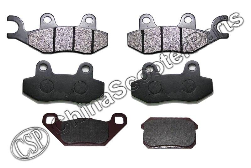 3 Set 6PCS Front  Rear Brake Pad  Kazuma 500 500CC   ATV UTV Buggy