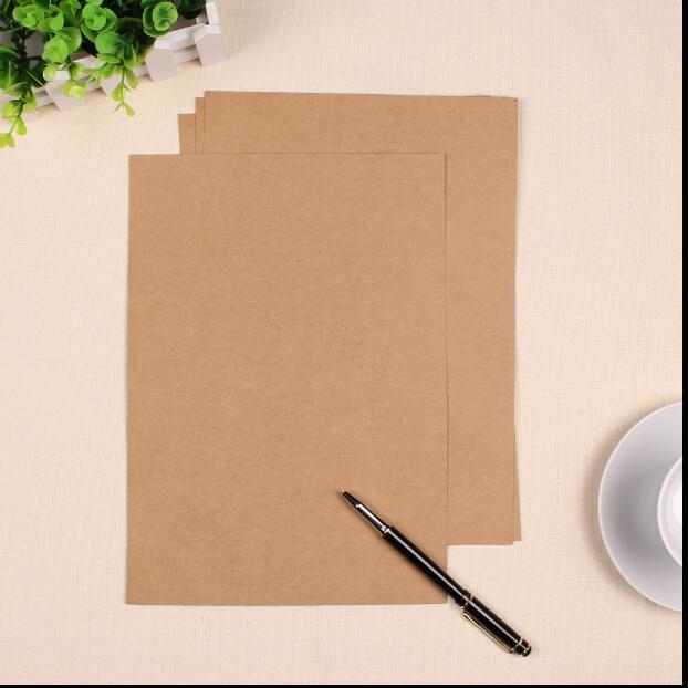 f7d678512 100 hojas porción A4 papel Kraft blanco 180gsm cartón reciclado cartulina  negro papel normal 21x29