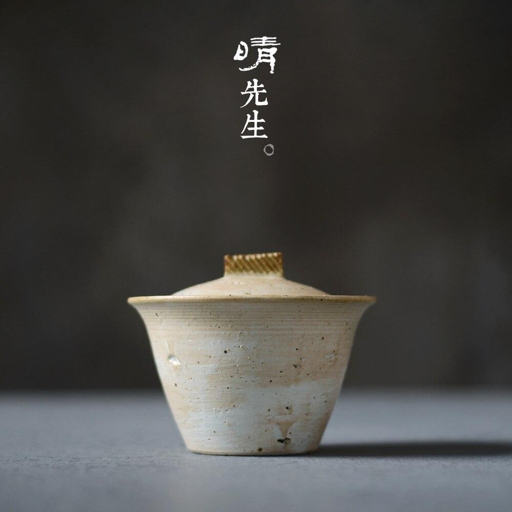 Цзиндэчжэнь керамическая чаша грубая керамика порошок свинцовая чаша трава серая глазурь чаша снег ходить серии три только чаша ручной зах...