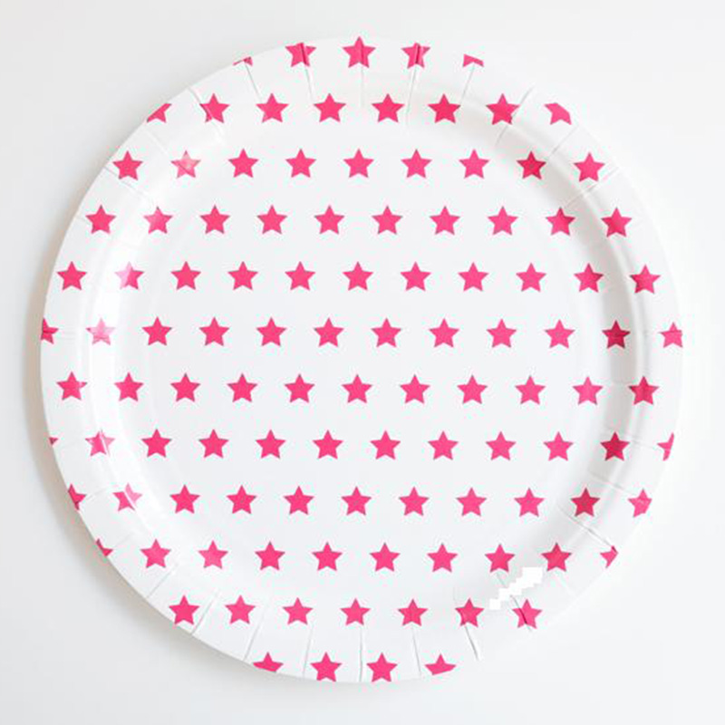 24pcs 9inch Stars Paper Plates Set Children Birthday Party Supplies Red Pink Blue Disposable Paper Plates-in Disposable Party Tableware from Home \u0026 Garden ...  sc 1 st  AliExpress.com : pink and blue paper plates - pezcame.com