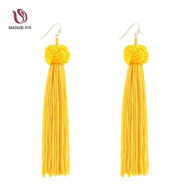 Ohrringe mit quasten gelb