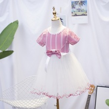 Baby girls Summer Princess Ruffle costumes party Dresses Children Clothing For Girl Christmas Birthday Princess Dress