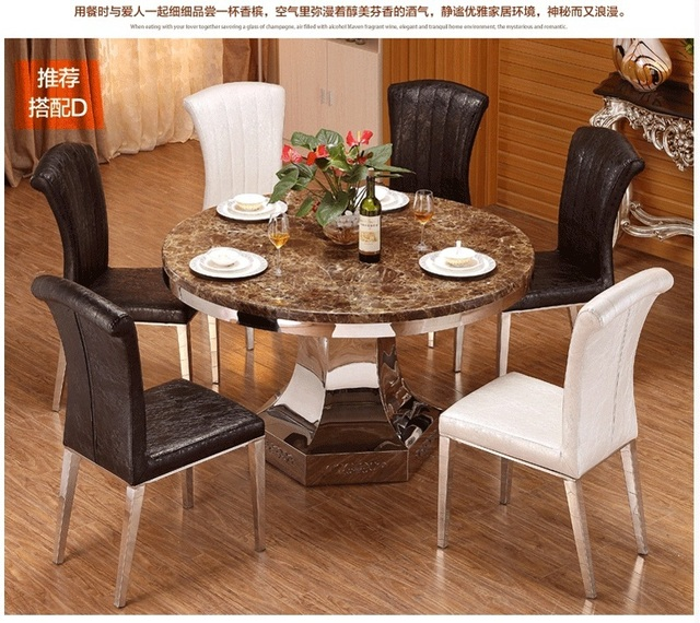 Recién llegado de mesa comedor set con mesa redonda y sillas de ...
