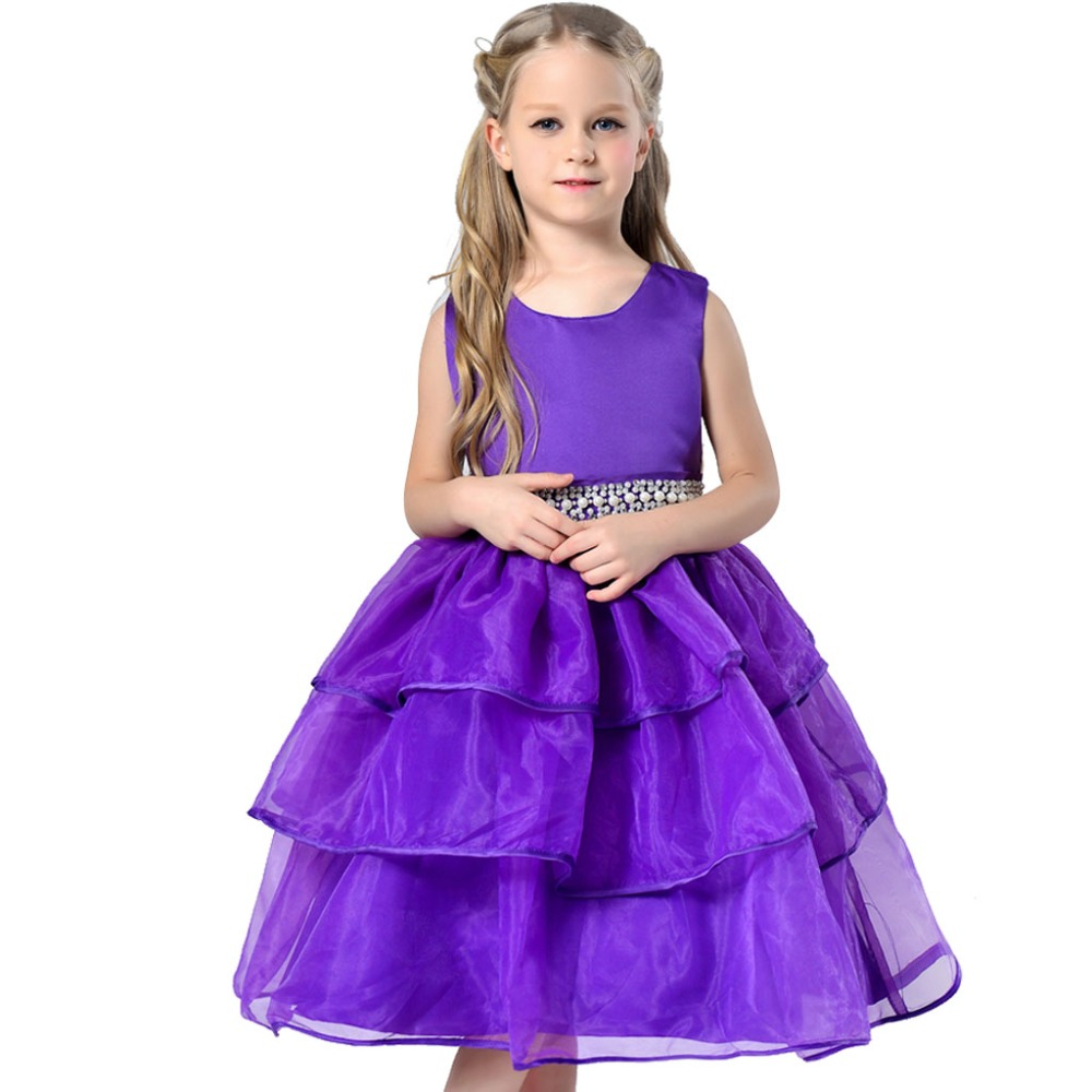 2-13Y Princess Girls Dress SummerWedding Party Christmas Dresses for girl Party Costume Kids Party Wear girls Clothing 5 Colors