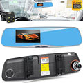4.5'' TFT Car Dvr Dual Lens Camera 1080p Hd Recorder Rearview Mirror Camera G-Sensor Loop-Cycle Recording Parking Monitoring Cam