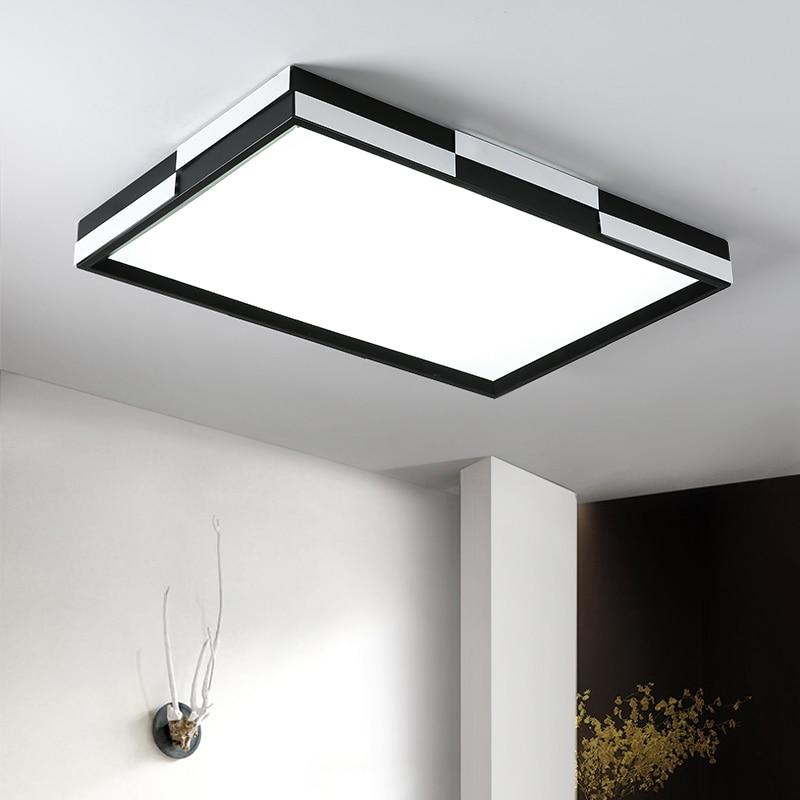 LED Ceiling Light Modern Square Indoor Lighting Fixture Iron Novelty Lamps for Living Room Bedroom Simple Minimalist Design Home цена