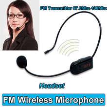 Binmer Fm-радио Беспроводная Гарнитура Микрофон Громкой Связи Мегафон Микрофон Динамик Учитель Октября 10