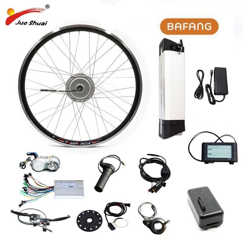 Bafang 36V 500W Electric BiKe Kit Gear Hub Motor Front Wheel with Samsung 36V 12Ah e Bike Battery Electric Bike Conversion Kit|Electric Bicycle Motor| |  - title=