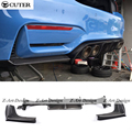 Hot vender F80 F82 M3 M4 V Estilo Fibra De Carbono F82 F80 Rear Bumper Lip Difusor Para BMW M3 M4 2014UP
