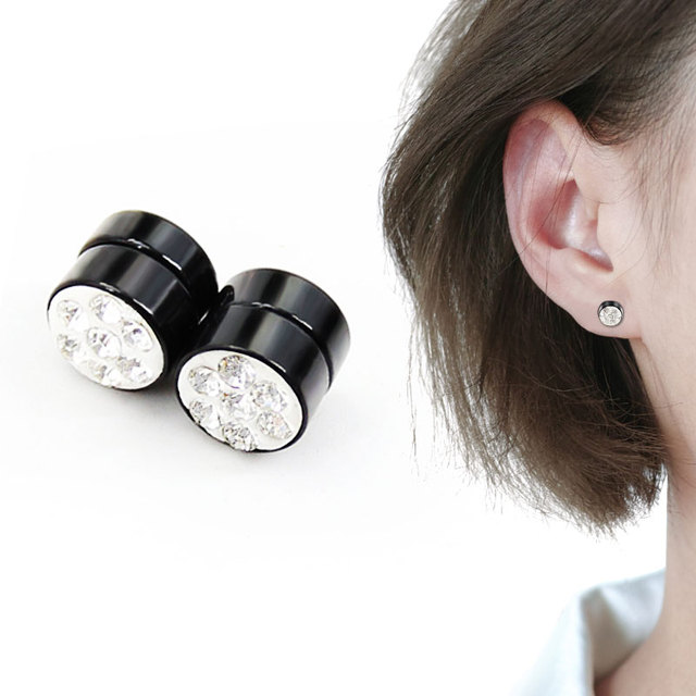 46e6a4bbf Trendy Creative Crystal Earrings For Women Men Unique Suction Magnetic Non  Pierced Ears Casual Jewelry Gifts