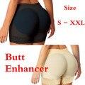Mulheres malha potenciador bumbum e quadril curto acolchoado falso ass underwear butt lift body com estofamento