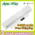 Apexway blanco 6 celdas 4400 mah batería para dell inspiron mini 1012 1018 cmp3d g9px2 3k4t8 854tj 8py7n
