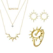 цена на DISINIYA    Geometric Jewelry Set Geometric Earrings Double Layers Necklaces Jewelry Sets for Women Fashion Jewelry Making WE171
