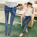 Maternity jeans skinny pants spring and autumn hole loose thin maternity legging pencil maternity pants trousers 03sn