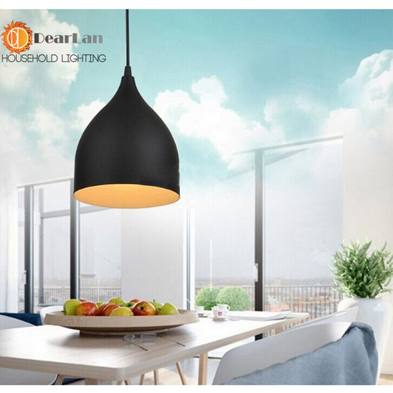 Fashional Modern Black&White&Red Aluminum Pendant Light  Dining Room Pendant Light For Bedroom Dinning Room Living Show Room  fashional modern black
