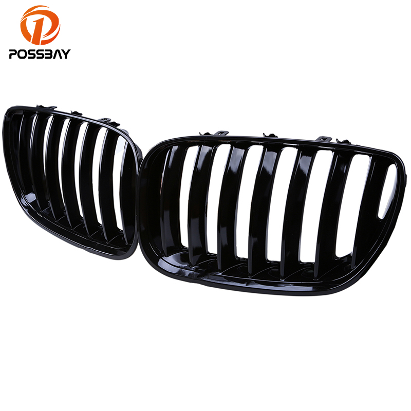 POSSBAY Black Auto Car Front Hood Kidney Sport Grills Coche Racing Grille for BMW X5 E53