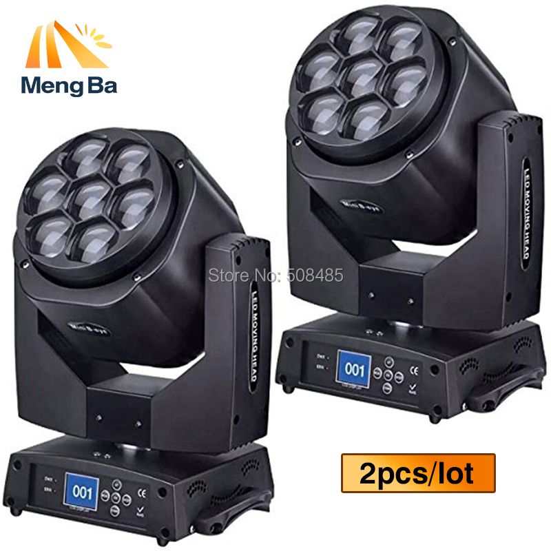 2PCS/lot New Led Mini Bee Eye Moving Head Light 7x15W RGBW Professional Stage Lights DJ DMX Disco Beam Wash Effect fast shipping 2pcs lot 7 12w moving head led light 4 in1 rgbw mixer dj light disco dmx professional stage projector wedding background light