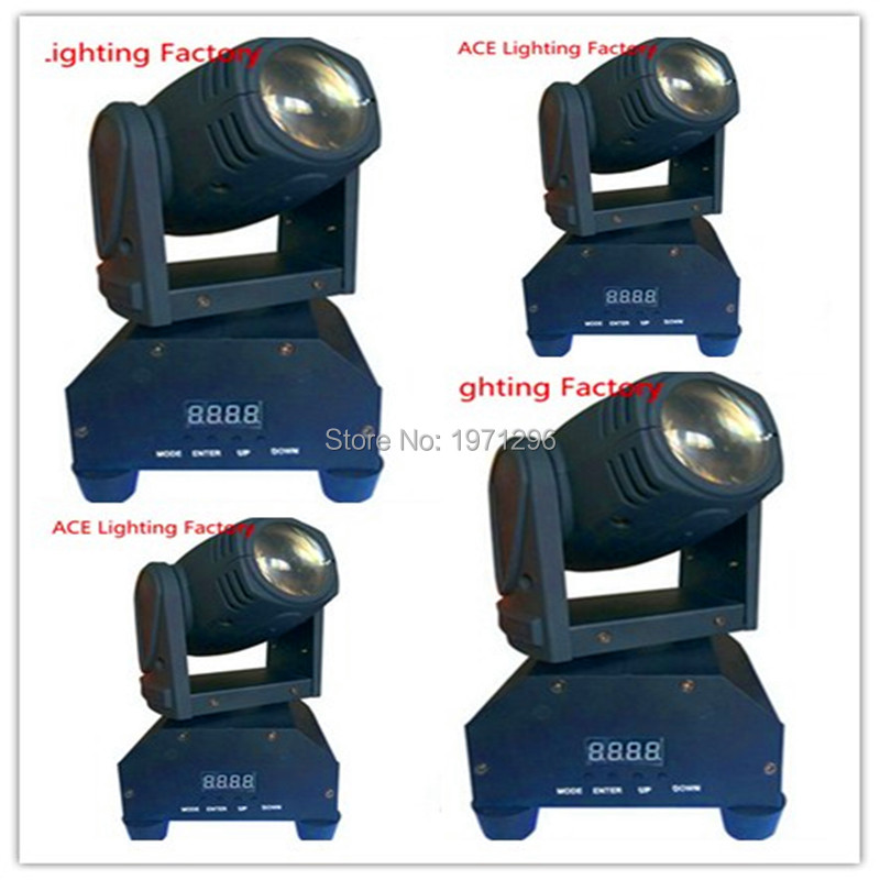 ФОТО 4pcs/lot HOT 10W LED Stage DJ Lighting Moving Head DMX 512 Light Beam For Stage Party Light High Quality Disco Effect Light