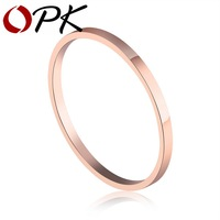 OPK 3 Pieces Set Simple Design Woman Finger Rings Fashion Rose Gold Plated Mixed Size 1