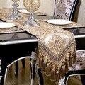 Luxo europeu moderno minimalista corredor da tabela toalha de mesa bordada bandeira caminhos de mesa jantar tapetes têxteis lar