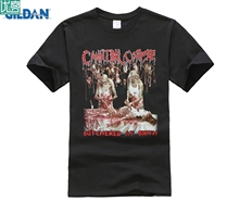 CANNIBAL CORPSE BUTCHERED AT BIRTH 1991 DEATH METAL GRINDCORE NEW BLACK T-SHIRT Short Sleeve Casual Printed  T Shirt printio slow death t shirt