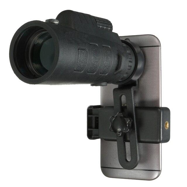 Универсальный 35x50 HD Оптический Монокуляр Телескоп Зум Телефон Объектив Наблюдения Обследования Кемпинг Телескопа С Держателем Для iPhone 7