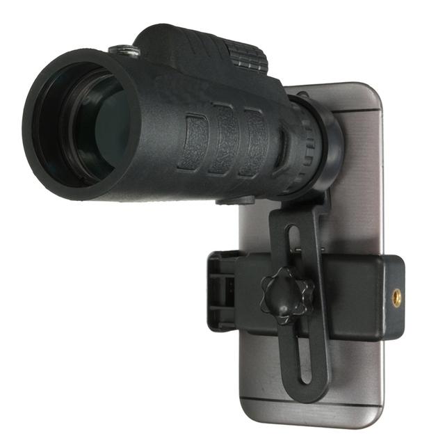 Universal 35x50 hd monocular telescopio óptico zoom lente de teléfono estudio de observación del telescopio acampar con soporte para iphone 7