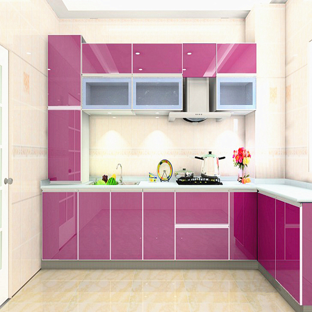 Pearlescent DIY Decorative Film Renovation Wall Stickers Wardrobe Kitchen  Cabinets PVC Self Adhesive Waterproof Wallpaper