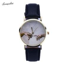 Women Fashion's Watches Faux Leather Band Analog Quartz Lady Wrist Watch wholesale