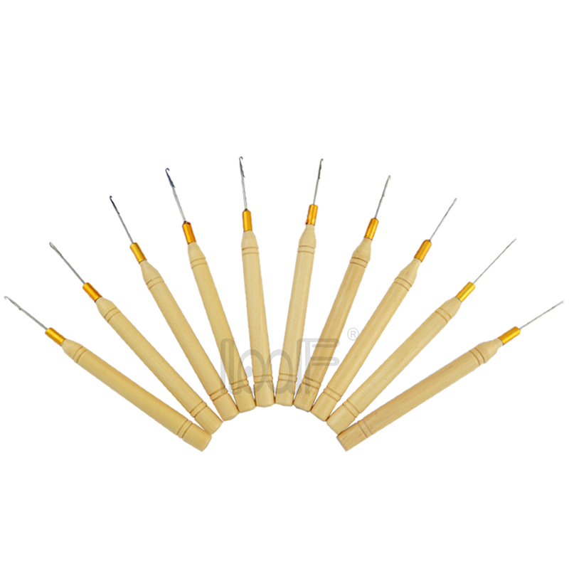 Methodical Loof 10pcs Wooden Handle Pulling Ventilation Needle/puller For Hair Micro Extensions Tool Kits Tools & Accessories