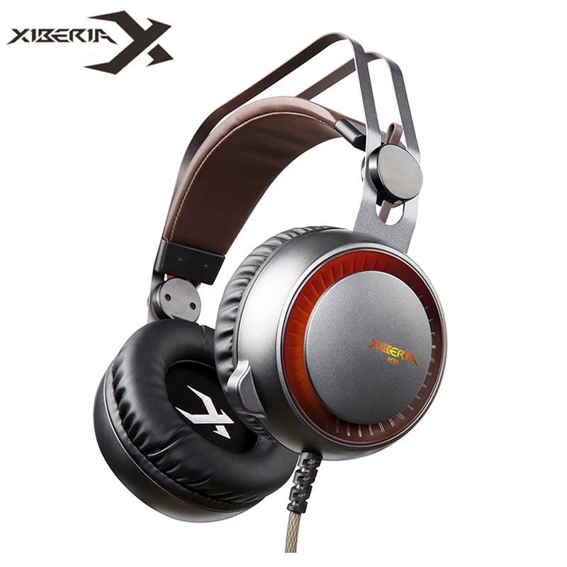 XIBERIA K11 USB Gaming Headset Gamer Best Stereo Glowing Headphones with Microphone Mic LED Light for