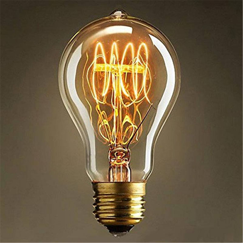 A19 Incandescent Bulbs Vintage Edison Light Bulbs E27 Antique Light Clear Glass 40W 110V/220V Lamp Home Decoration --M25