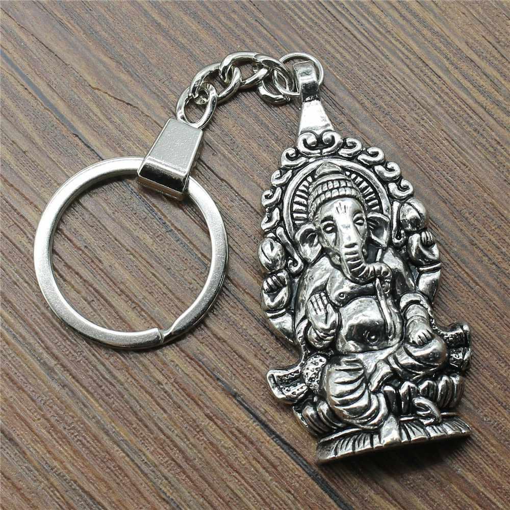 פיל Keychain גנש פסל מפתח שרשרת גנש תליון קסמי נשים תכשיטי חמוד Keychain עבור מפתחות תכשיטי מתנה