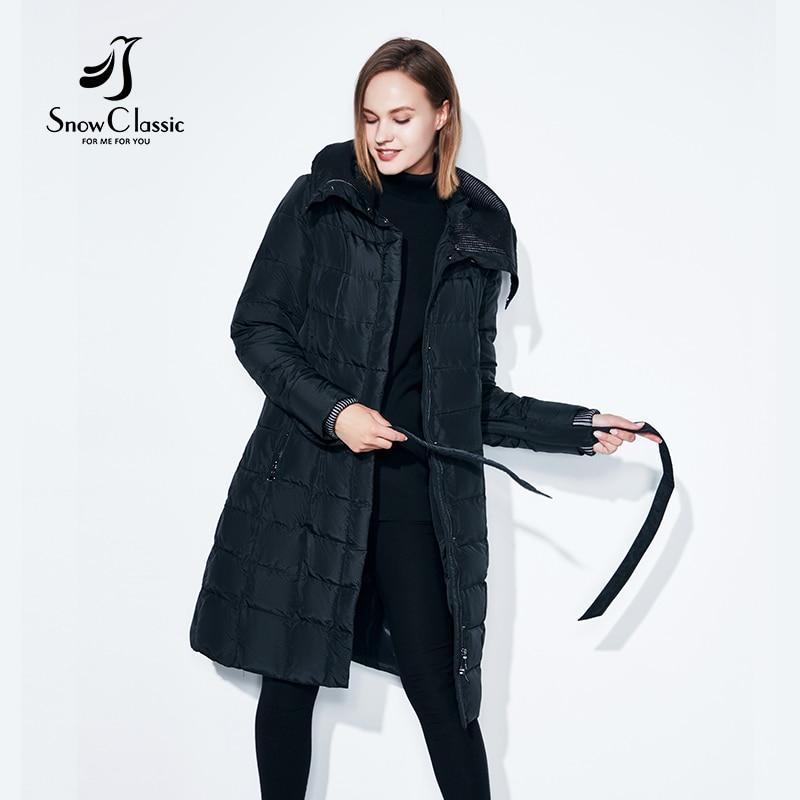 SnowClassic spring jacket women winter coat women warm outwear fashion big size Medium-Long luxury winter coats thick Slim Solid