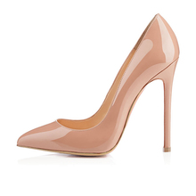 2016 New fashion Solid Stiletto Women's High Heel Ladies Shoes customize slip-on Pointed Toe Pumps for party big size5-15