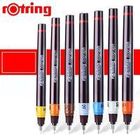 Gremore Rotring красное кольцо изограф заправленные чернила рисунок дизайн ручка 0,1 мм-1,0 мм иглы ручка-закладка пористая точка ручка Инженерная