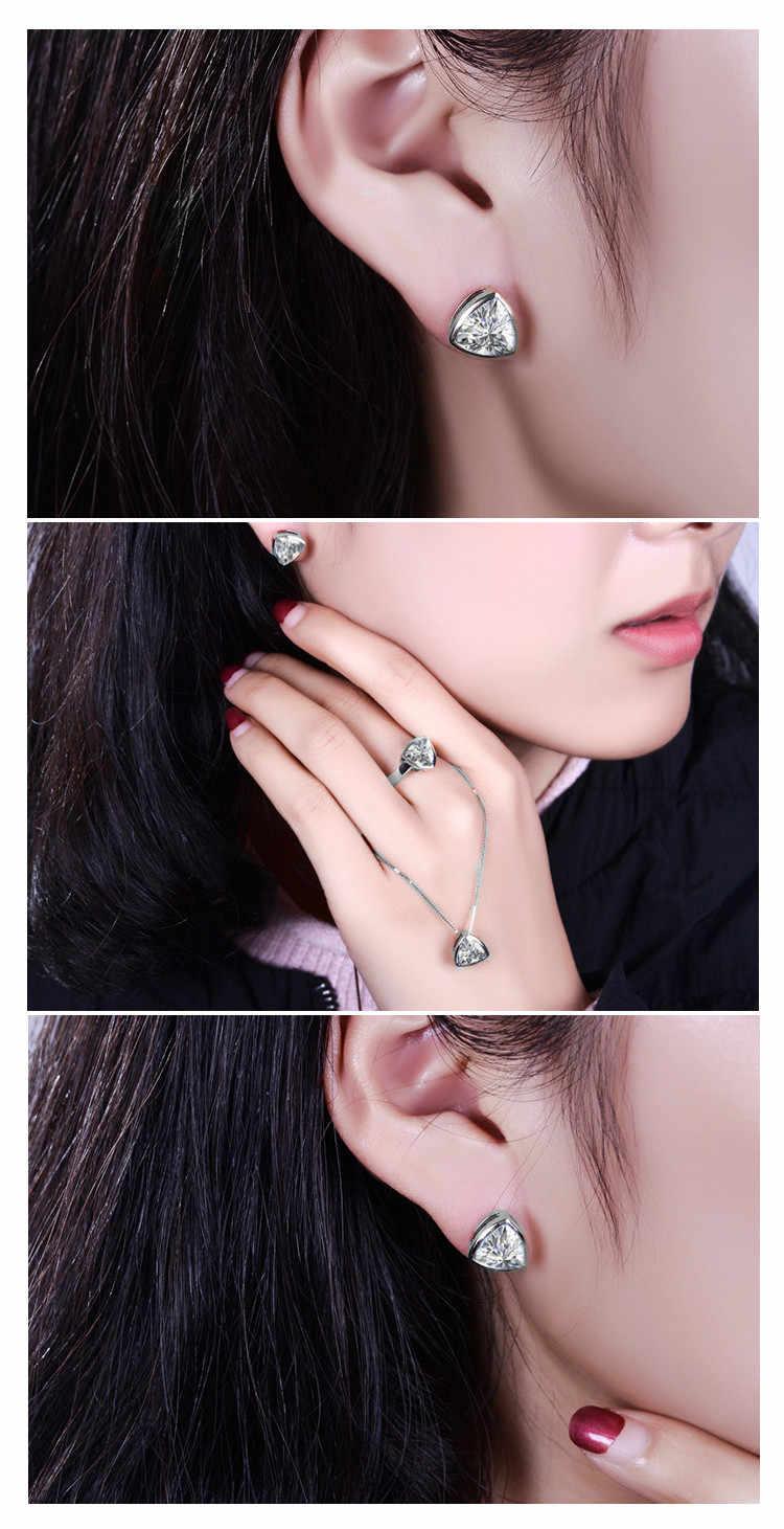 Almei 40% Cô Dâu 925 Sterling Bạc Jewerly Bộ Đồ Trang Sức Phụ Nữ Cubic Zirconia Womens Vòng Cổ Và Earring Trang Sức Set LT002