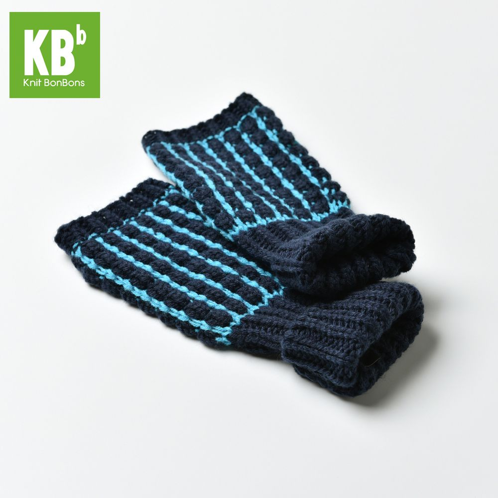 Childrens black leather gloves - 2017 Spring Kbb Lake Blue Acrylic W Black Boxed Stripe Design Men Children Women Knit