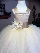 Vintage Formal Communion Dress Square Collar Lace Up Appliques Tulle Ball Gowns Ruffle Pageant Flower Girl