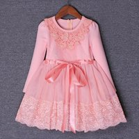 3 9yrs Autumn Flowers Pearls Girls Dress Girls Clothing Princess Party Birthday Dovetail Dresses Girl Costume