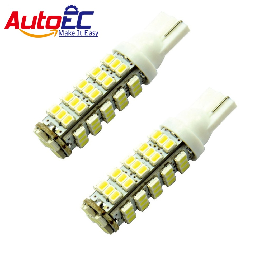 AutoEC 10x 68LED 68smd 68 SMD 1206 LED W5W 194 927 161 Car Side Wedge Light Lamp Bulb for License plate lights #LB10 20 pcs t10 68led 1206 68 smd led w5w car 68smd 3020 dc12v 194 927 168 side wedge lamp marker bulb license plate lights
