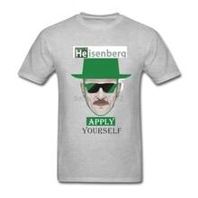 Diy Breaking Bad hombres camisetas música tour camisetas para adultos vintage tela Heisenberg aplicar usted mismo camisetas