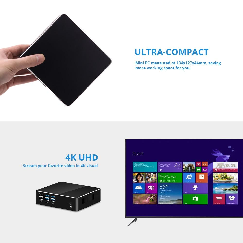 Image 4 - XCY Mini PC Intel Core i7 7500U i5 7200U i3 7100U Windows 10 8GB RAM 480GB SSD 4K UHD HDMI VGA 300M WiFi Gigabit Ethernet-in Mini PC from Computer & Office
