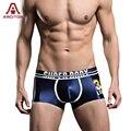 A ARCITON Silky Smooth Seamless Mens Underwear Sexy Low Waist Ice Silk Men Underwear Boxer Shorts Underwears(N-816)